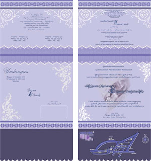 Contoh Design Sederhana Undangan Pernikahan Warna Ungu