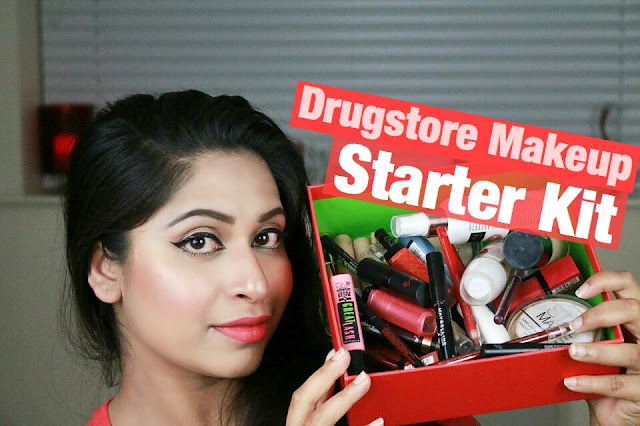 Drugstore Makeup Starter Kit - Oily, Dry And Combination Skin