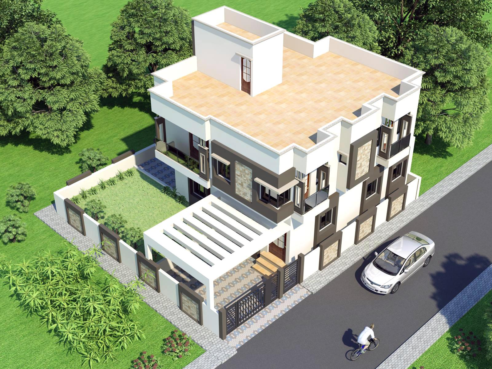 3d front india pakistan house design 3d front elevation Home design plans 3d