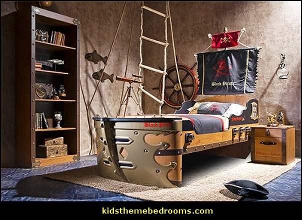 Pirate Bedrooms   Pirate Themed Furniture   Nautical Theme Decorating