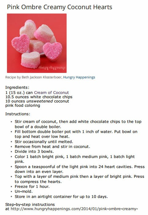Coconut Hearts recipe