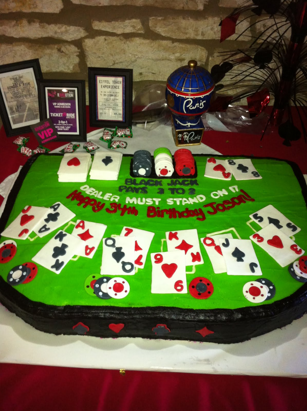 Poker Table Cake Images