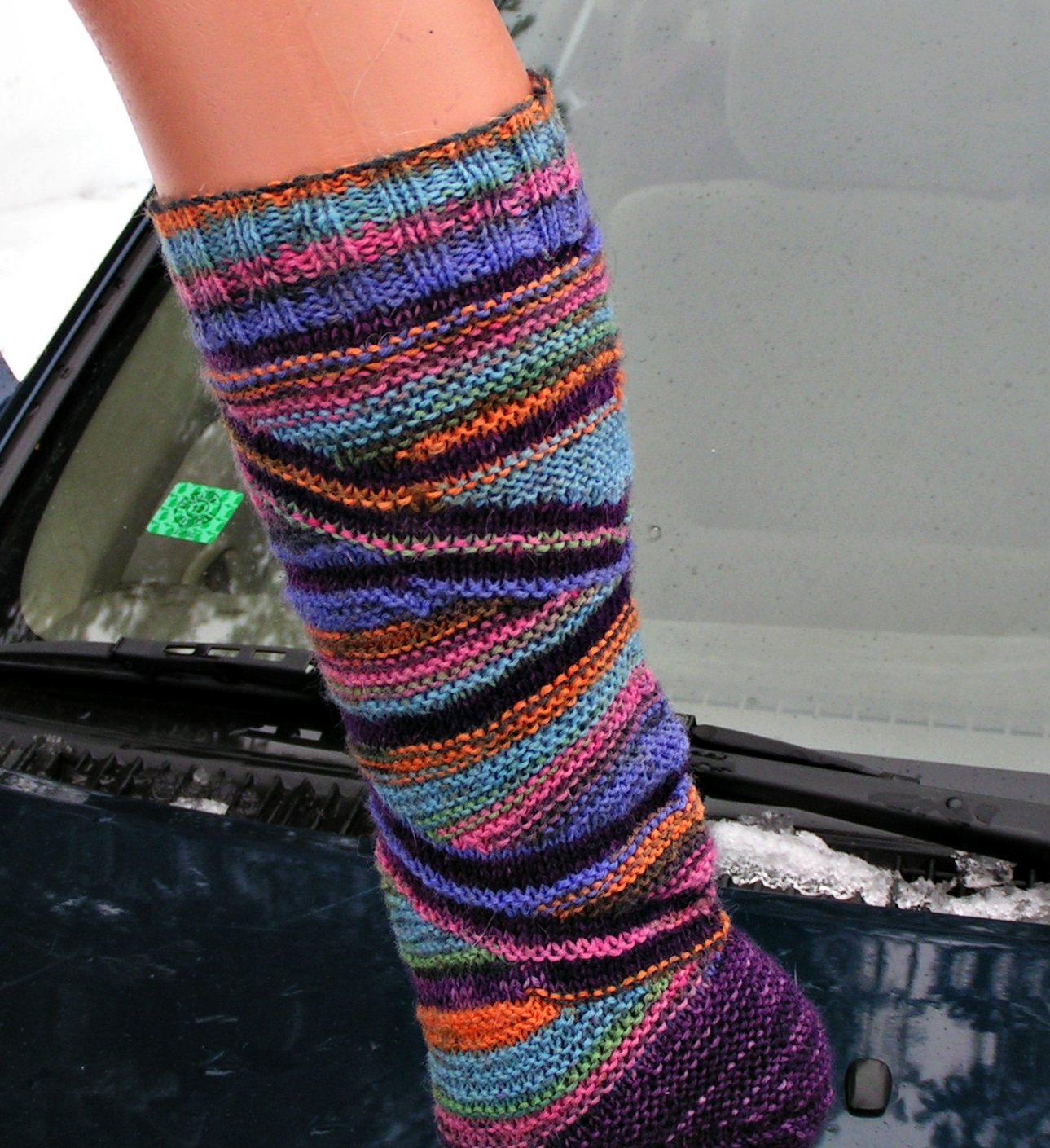 Knitting Expat German Short Row Heel : An old german s knit third pair of short row socks