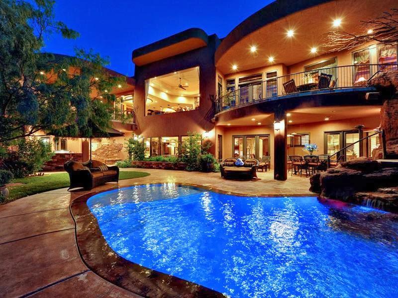 Luxury life design plush residence in saint george utah for Pool design utah