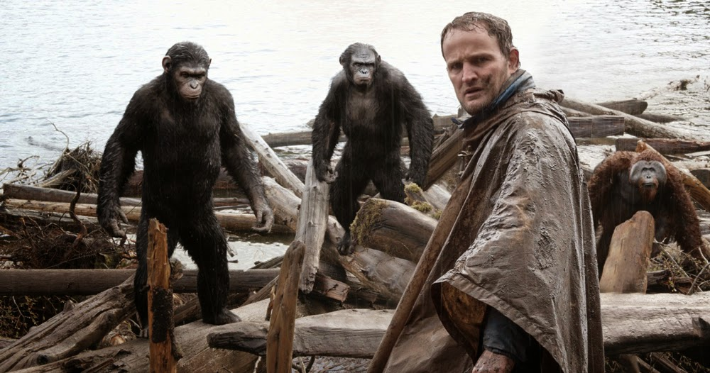Andy Serkis and Jason Clarke in Dawn of the Planet of the Apes