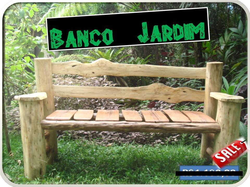 banco de jardim rustico:Moveis rusticos: Banco Artesanal !!! Peça ÚNICA.