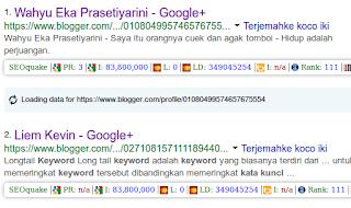 contoh tampilan profil blogger