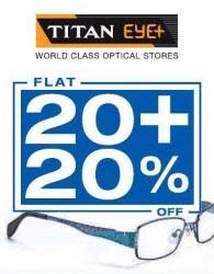Titan Eye+ Offers Flat 20 plus 20%