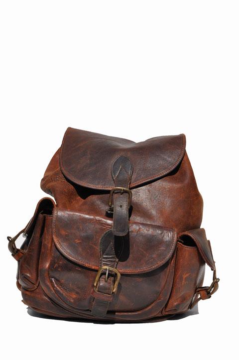 goodbye heart vintage large vintage leather backpack. Black Bedroom Furniture Sets. Home Design Ideas
