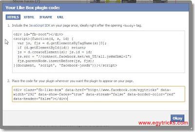 Facebook Like-Box Code