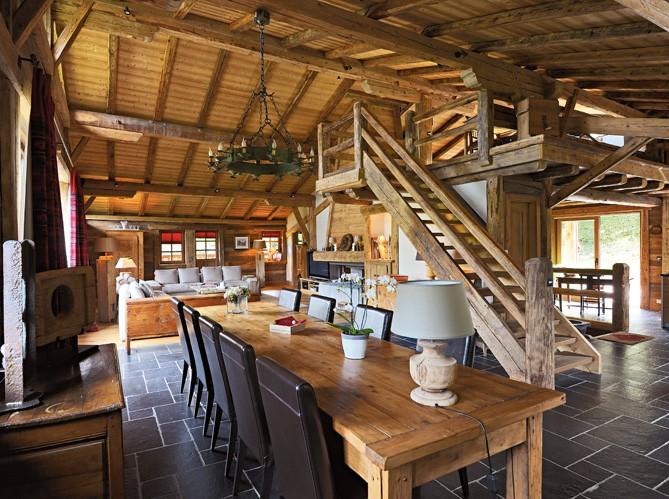 Estilo rustico cabana rusticas saboyana - Casas rusticas por dentro ...