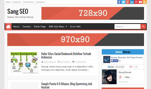 Sang SEO Magazine Blogger Template