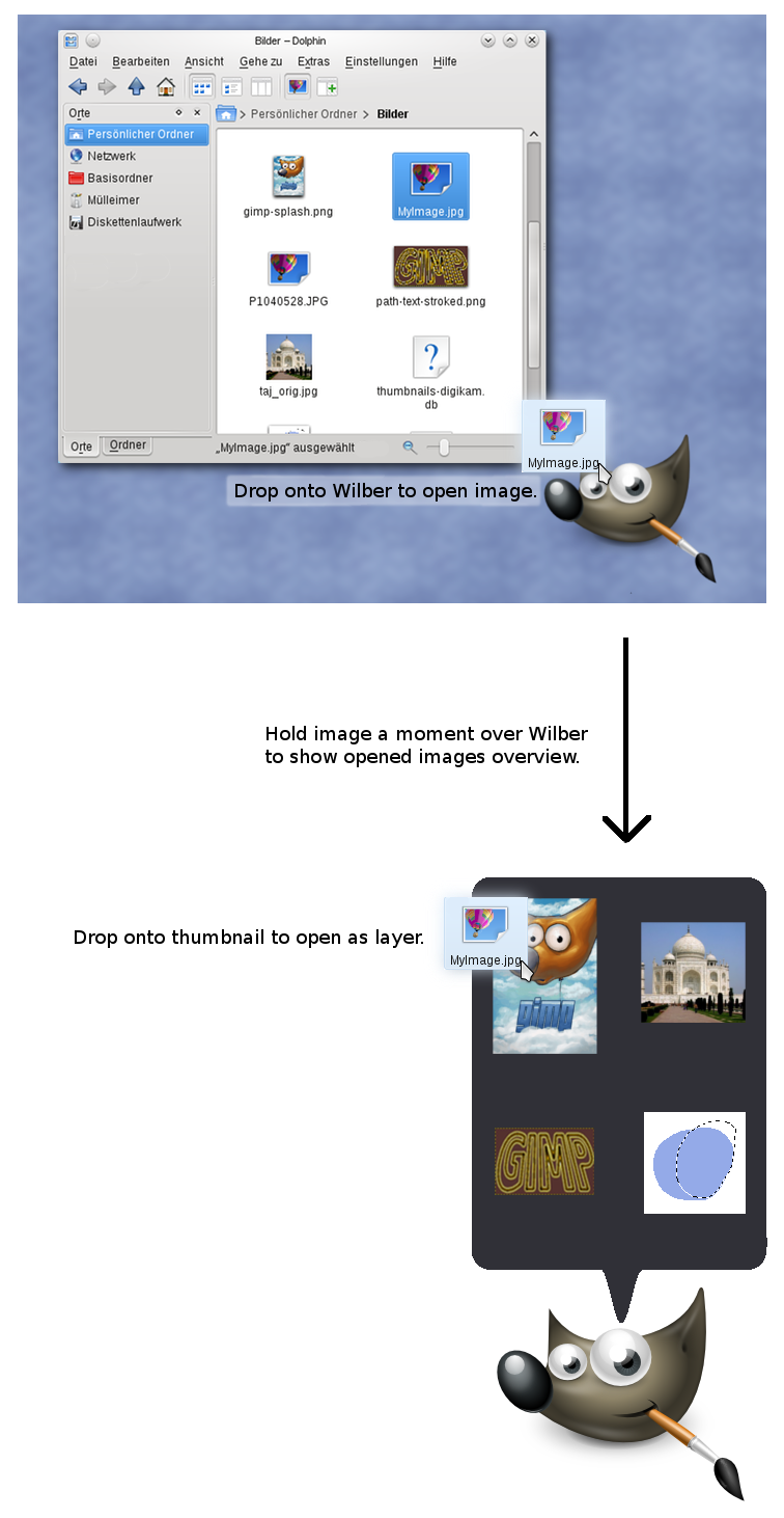 how to change layer gimp