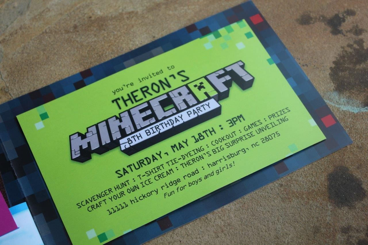 Minecraft birthday party ideas and invitations solutioingenieria