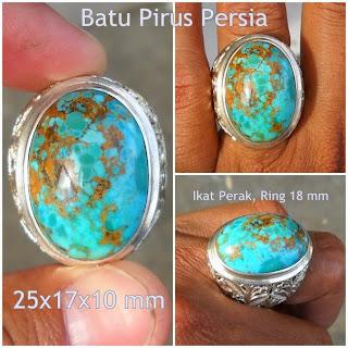 PR105- SOLD- Batu Pirus Persia Serat Emas - Antik Sekali !!!