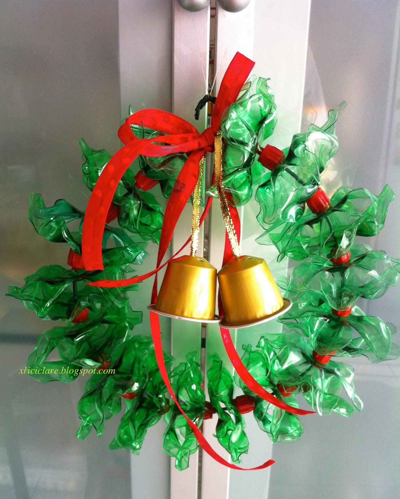 Ambiente de luz guirlanda de garrafa pet - Como hacer guirnaldas de navidad ...