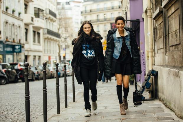 Greta Varlese and Lineisy Monteiro, Paris, January 2016