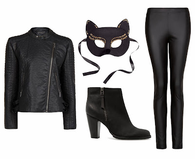 Halloween, disfraz, fiesta, catwoman
