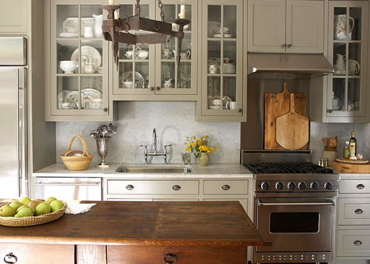 Perfect gray gray kitchen cabinets