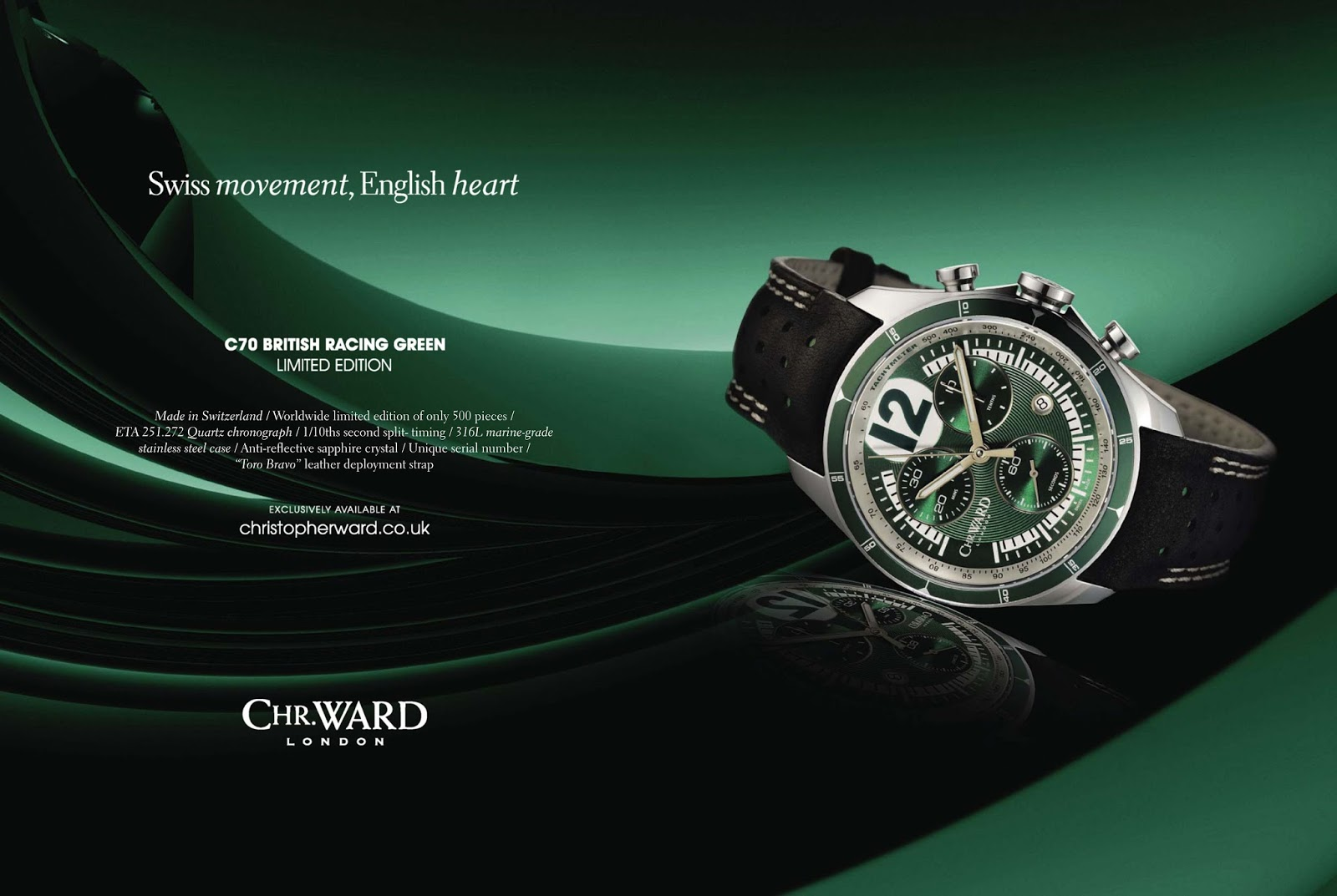 C70 British Racing Green Watch.