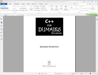 Foxit reader PDF book screen shot