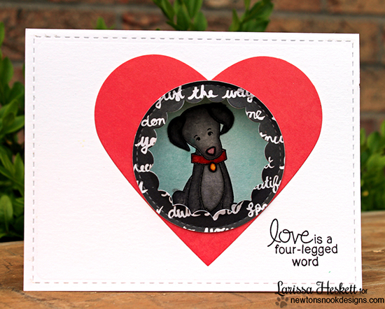 Labrador Dog Love Card by Larissa Heskett | Fetching Friendship Stamp set by Newton's Nook Designs
