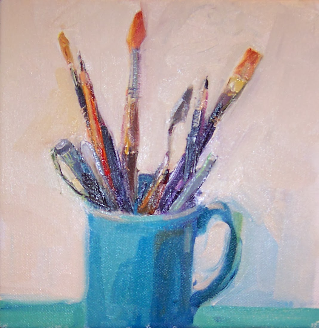 Art every day mug full still life oil on for Canvas painting supplies