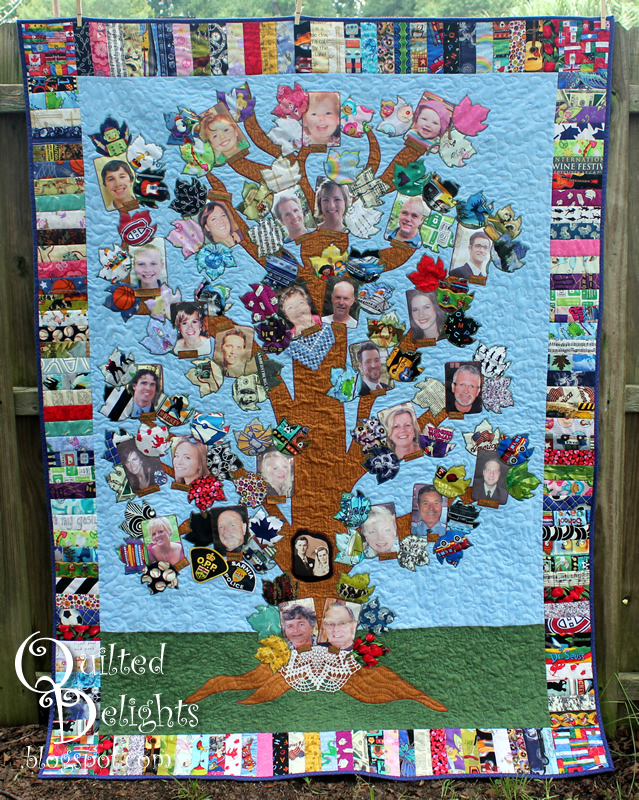 Quilted Delights: Family Tree Quilt Complete : quilt with family pictures - Adamdwight.com