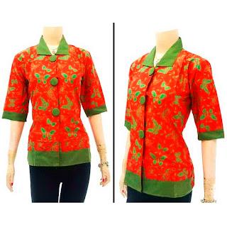 DBT2565 - Baju Bluse Batik Wanita Terbaru 2013