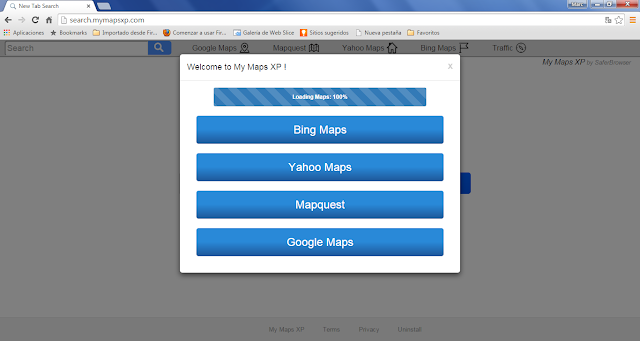 Search.mymapsxp.com virus