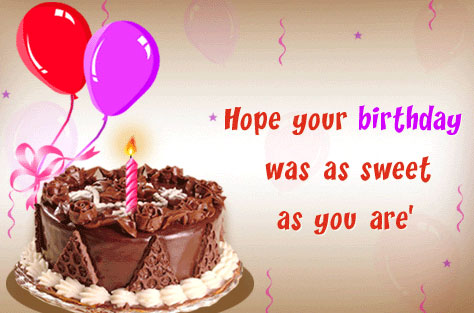 Belated Birthday Wishes Cards – Birthdays Greetings