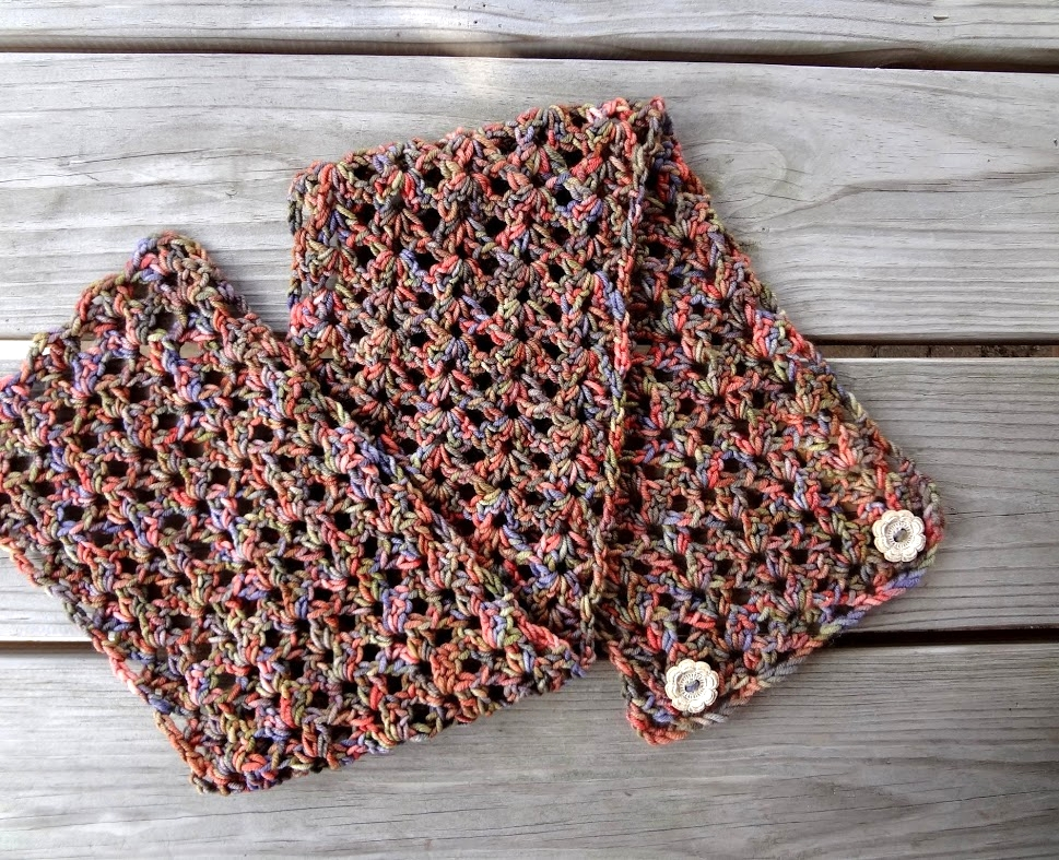 Fiber Flux: Free Crochet Pattern...Flower Patch Button Wrap