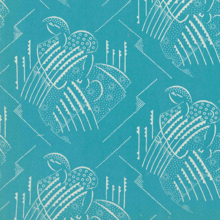 Vintage soviet ussr art deco fabric for Art deco fabric