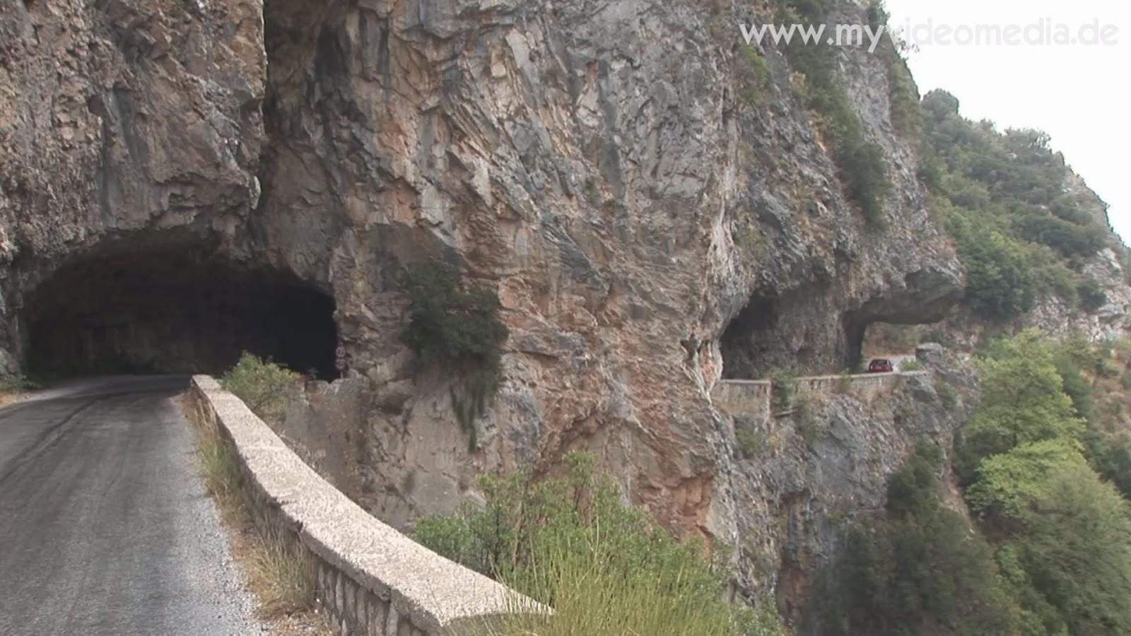 winding road from Kalamata to Mystras