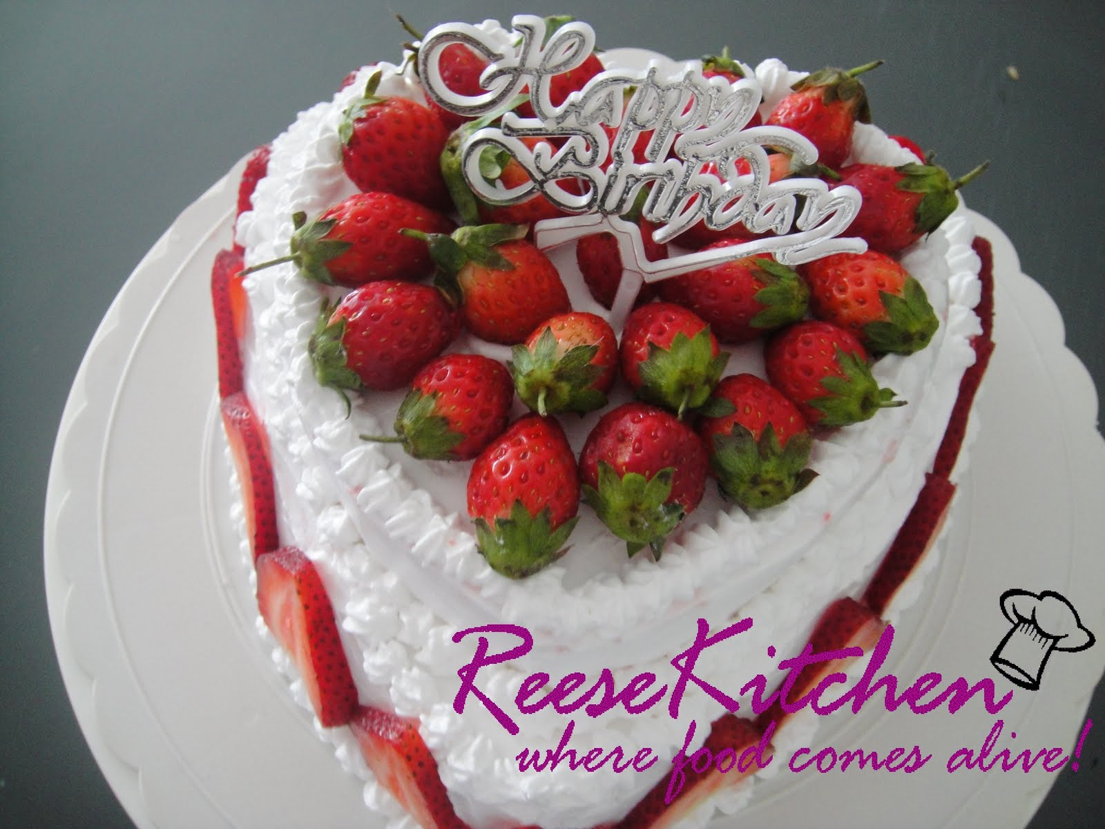 ReeseKitchen Happy Birthday Honey ~ Simple Fruit Flan Ca ~ 181440_Love Cake Decoration Ideas