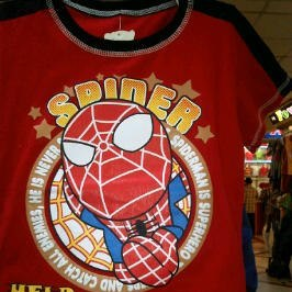 busana kartun spiderman