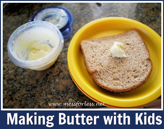 Making Butter with Kids, #recipe, #kids