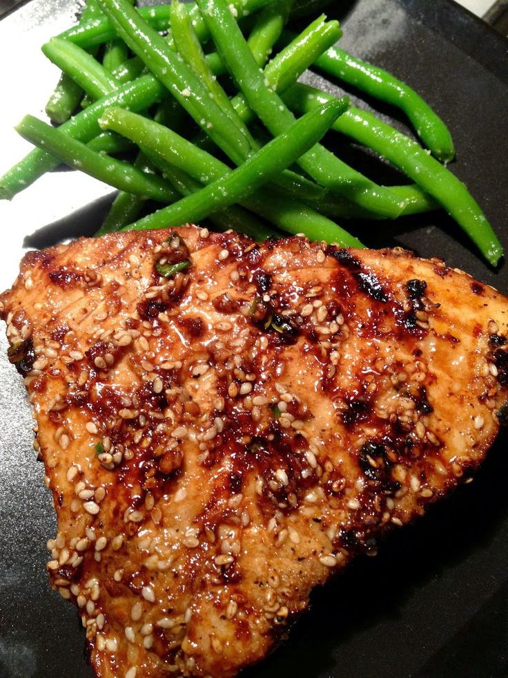 Asian Sesame Grilled Tuna Steak Recipe