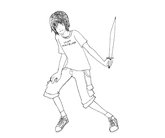 #11 Percy Jackson Coloring Page