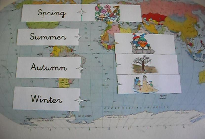 para aprender las estaciones del año