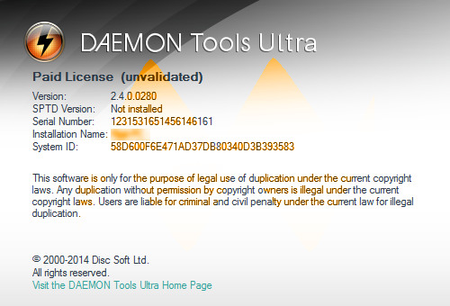 daemon tools pro activation key