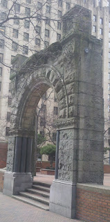 Arch near 2nd and Marion, part of the former Burke building