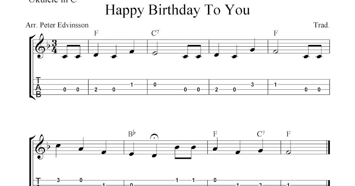 Easy Happy Birthday Guitar Chords