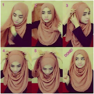 Tutorial Hijab Pashmina Kusut Rawis
