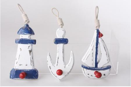 Colgadores madera marineros