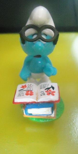Brainy Smurf figure by Peyo Schleich