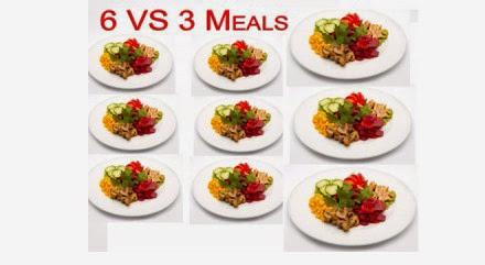 نصائح سريعة وطرق لتخفيف الوزن 6-vs-3-meals2-300x22
