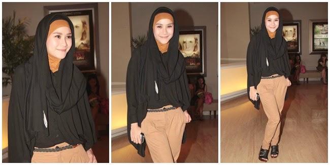 model jilbab modern ala artis indonesia terbaru