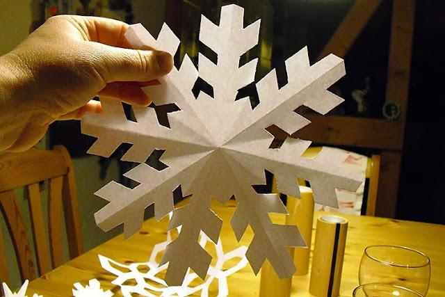 how cut a snow star by frauschoenert