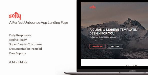 Softy - App Landing Page Template